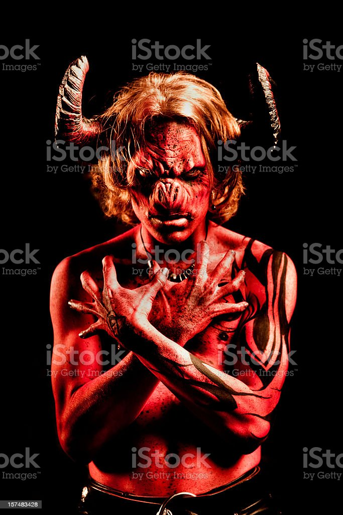 Portrait of the Devil stock photo