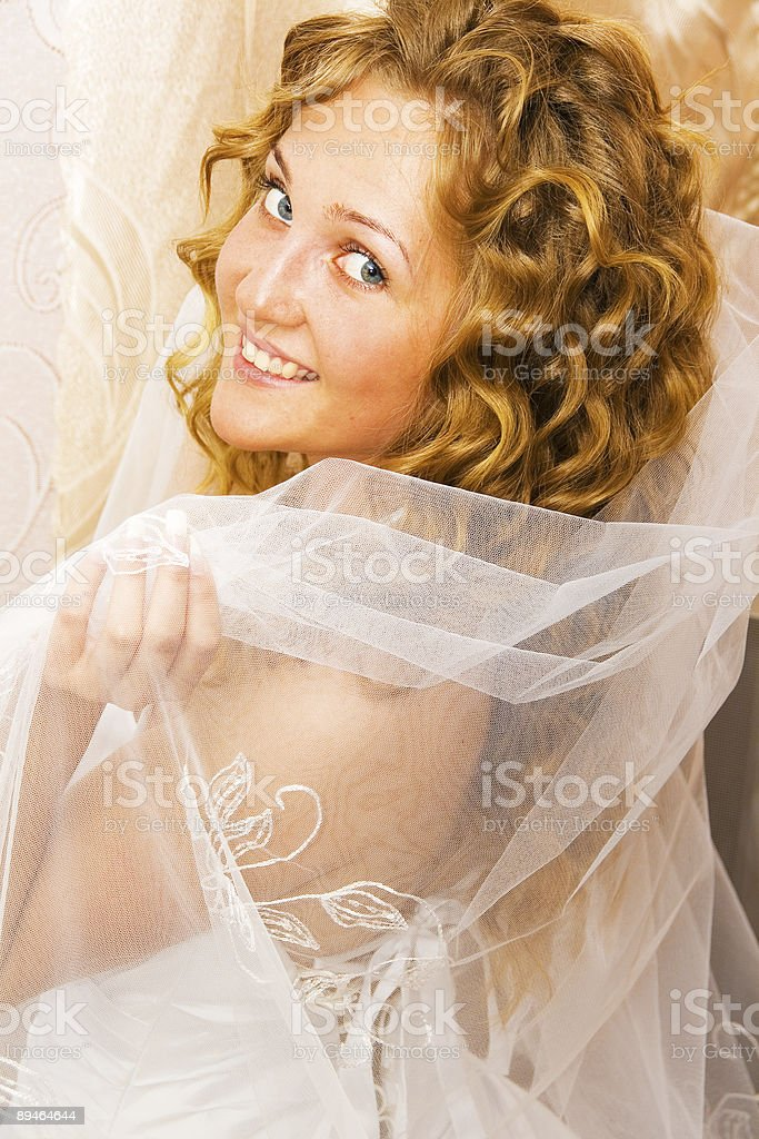 Portrait of the dressing up bride royalty-free stock photo