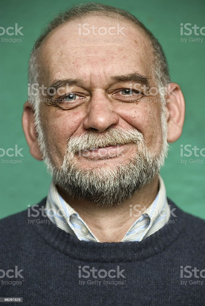 Portrait of the elderly man royalty-free stock photo