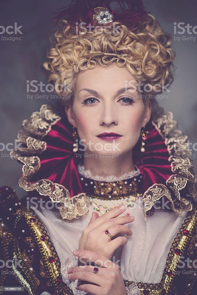 Portrait of the Haughty Queen posing stock photo
