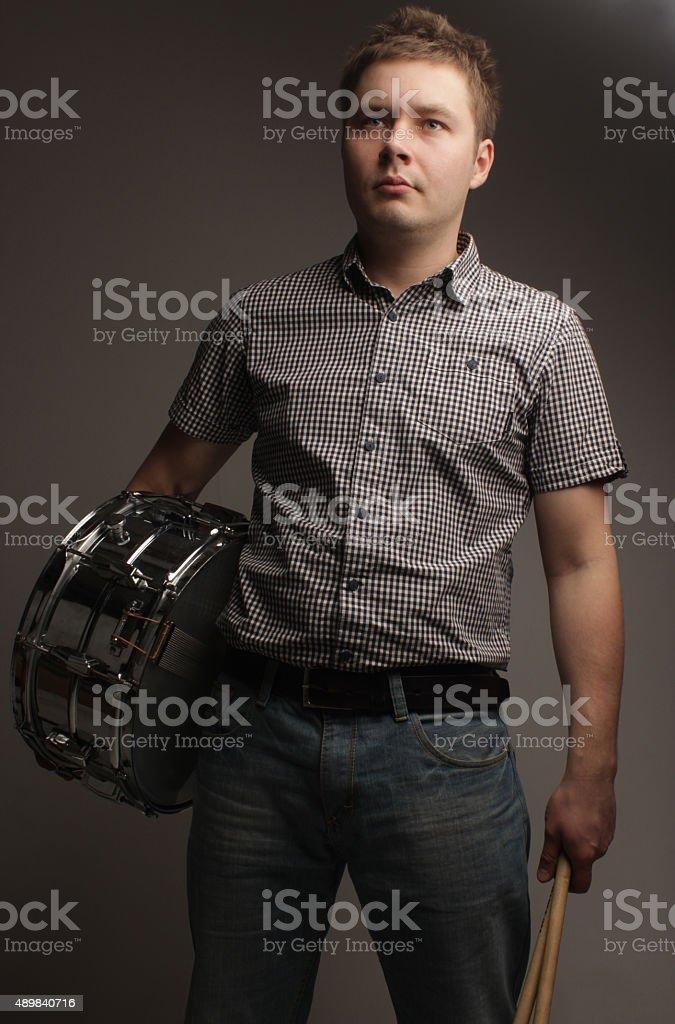 portrait de l'homme de la musique de jeu - Photo