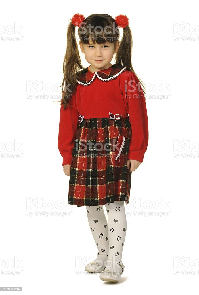 Portrait of the pretty little girl in full growth royalty-free stock photo