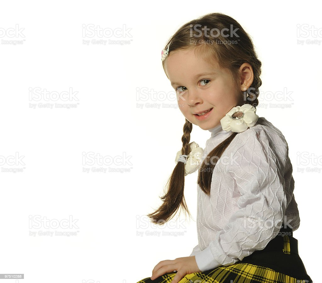 Portrait of the pretty little girl royalty-free stock photo