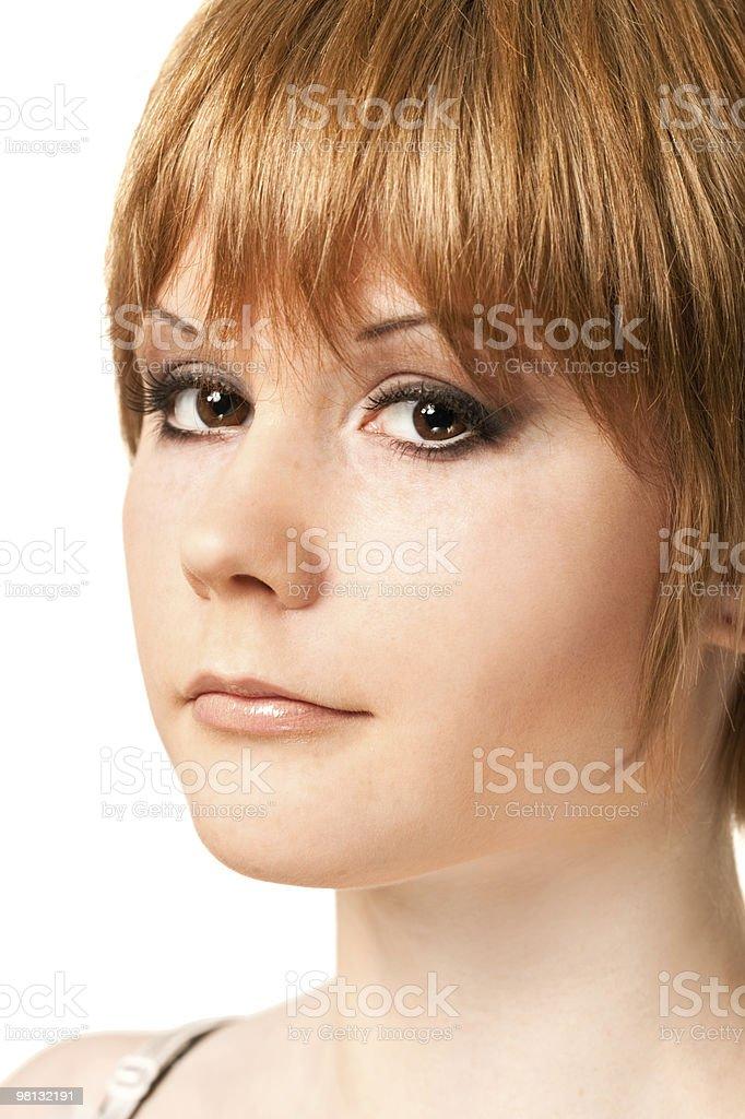 Ritratto di donna a pelo rossa foto stock royalty-free