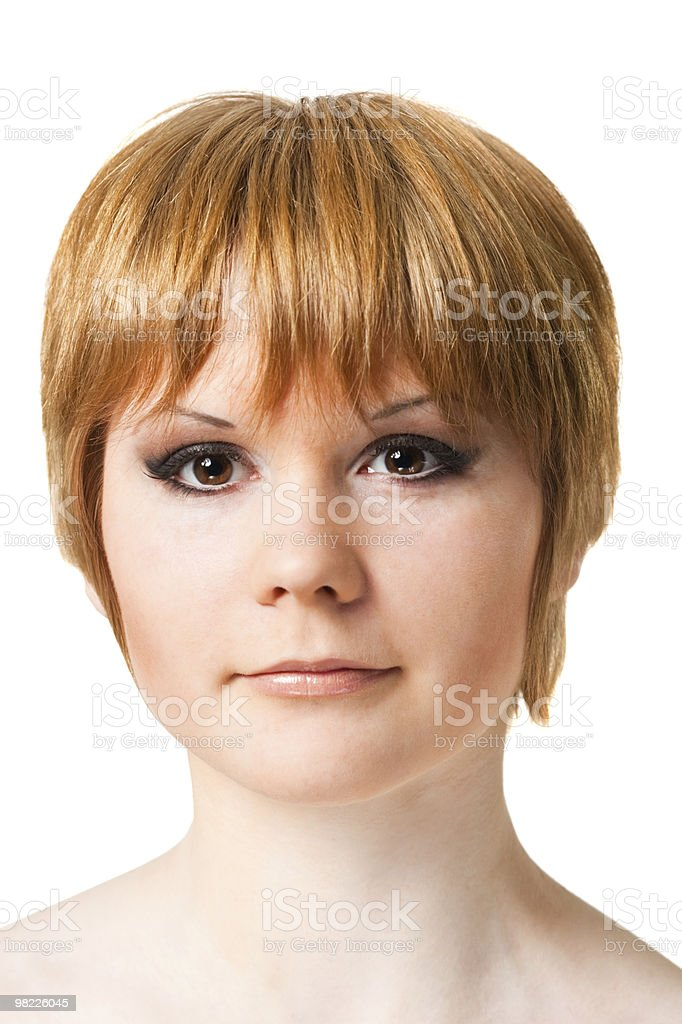 portrait of the red-haired woman royalty-free stock photo