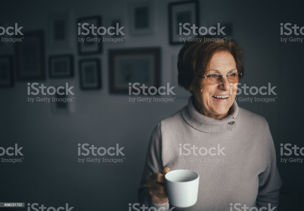 Portrait of the seniors stock photo