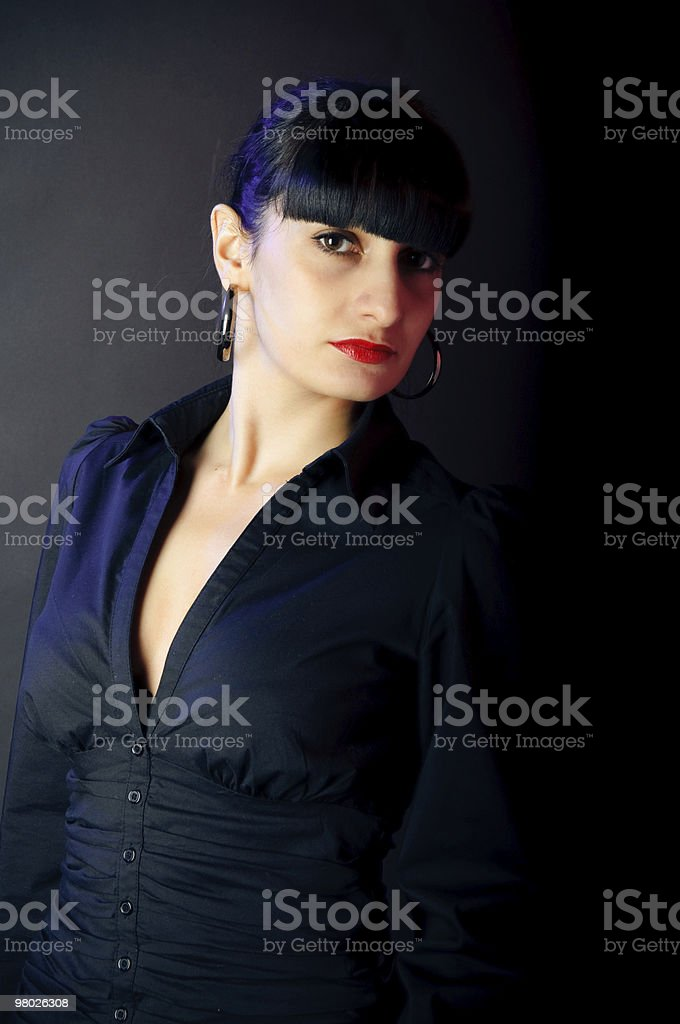 portrait of the showy brunette woman royalty-free stock photo