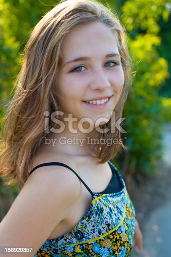 istock Portrait of the sixteen-year-old girl 186920357