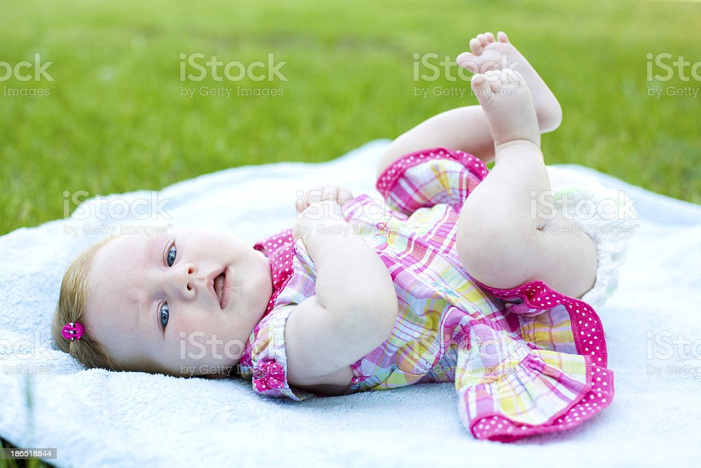Portrait of the two-month baby royalty-free stock photo