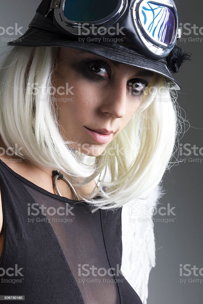 Portrait of the woman stock photo