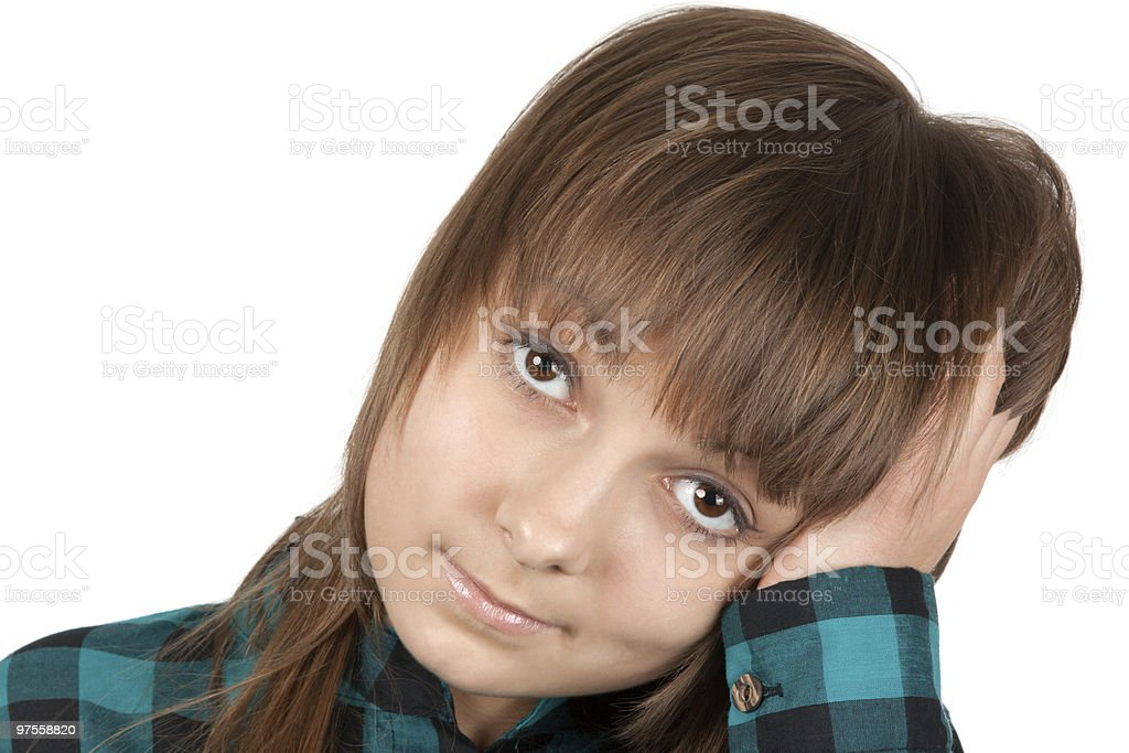 Portrait of the young beautiful girl royalty-free stock photo