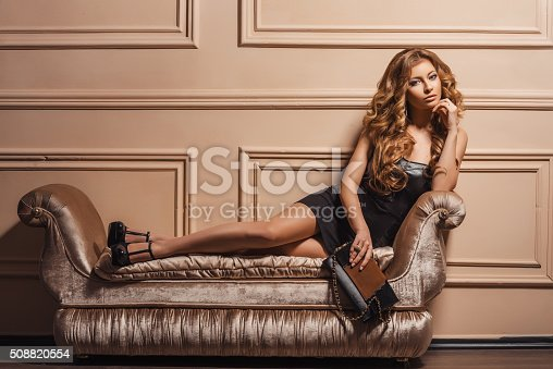 539468216 istock photo Portrait of the young beautiful woman in leather shoes 508820554