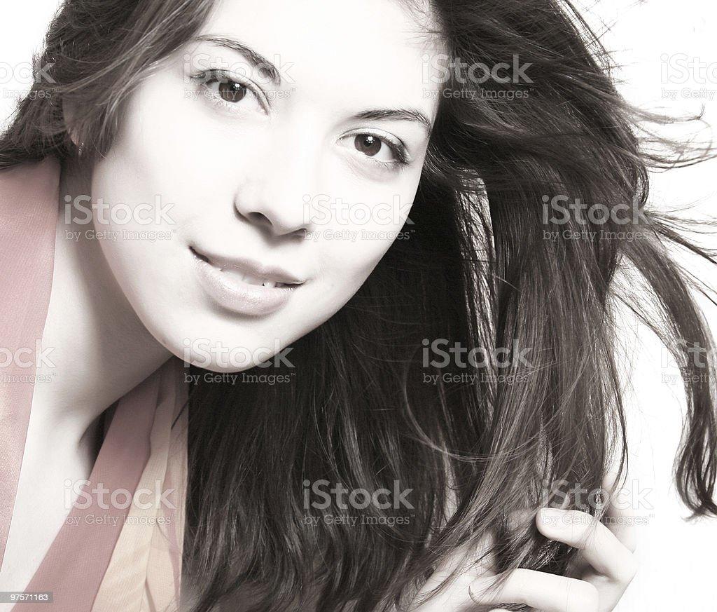 Portrait of young brunette photo libre de droits