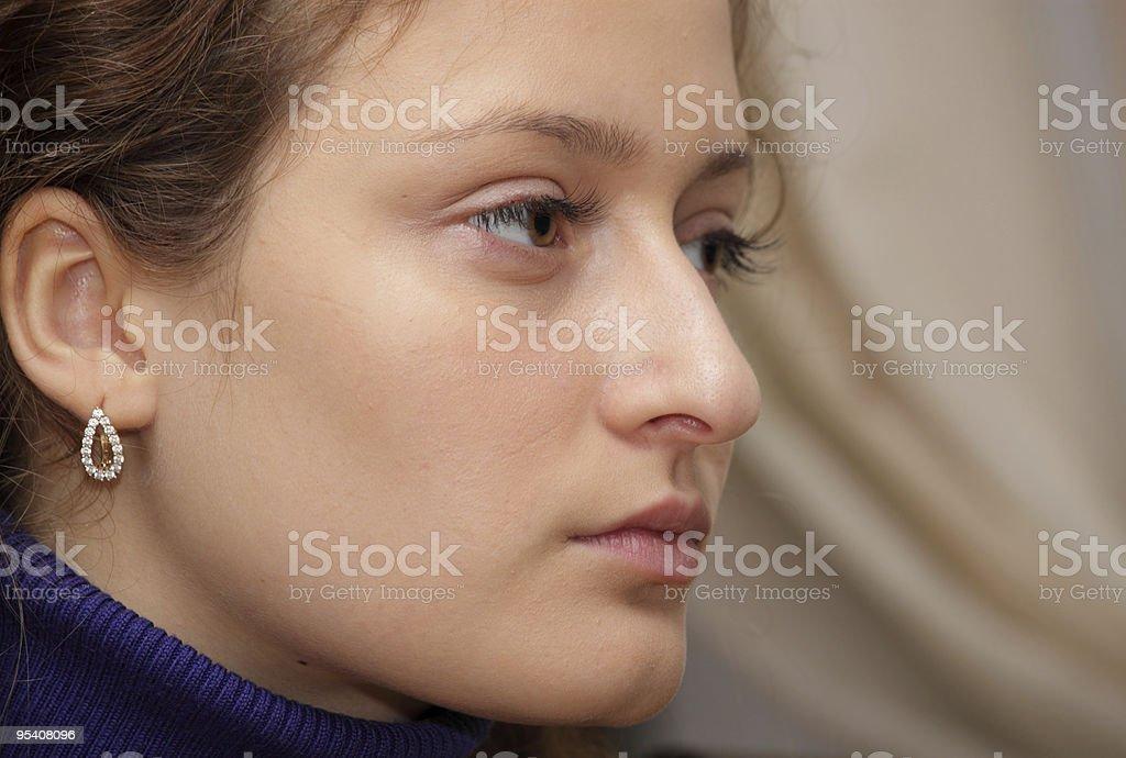 Porträt der jungen Mädchen Lizenzfreies stock-foto