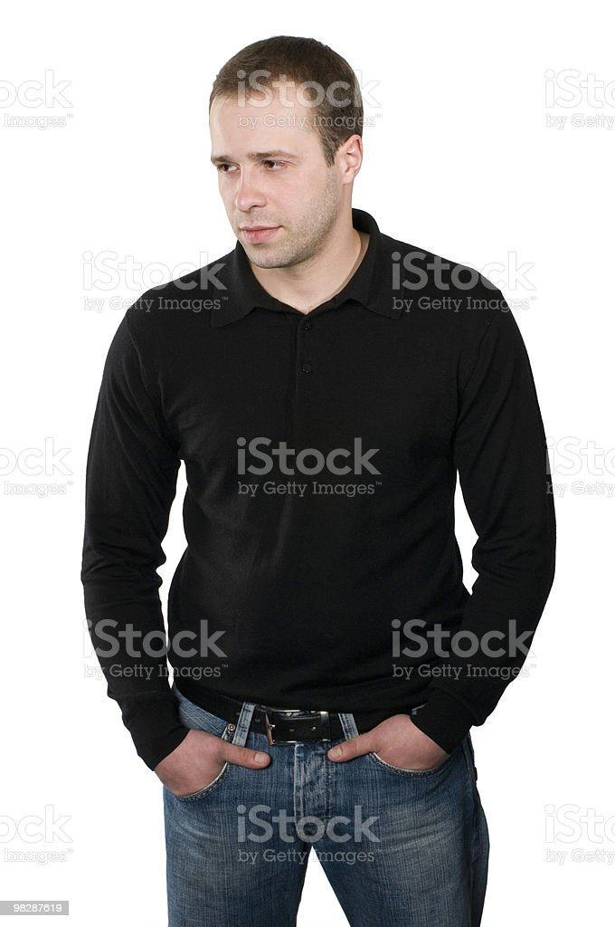 Portrait of the young man royalty-free stock photo