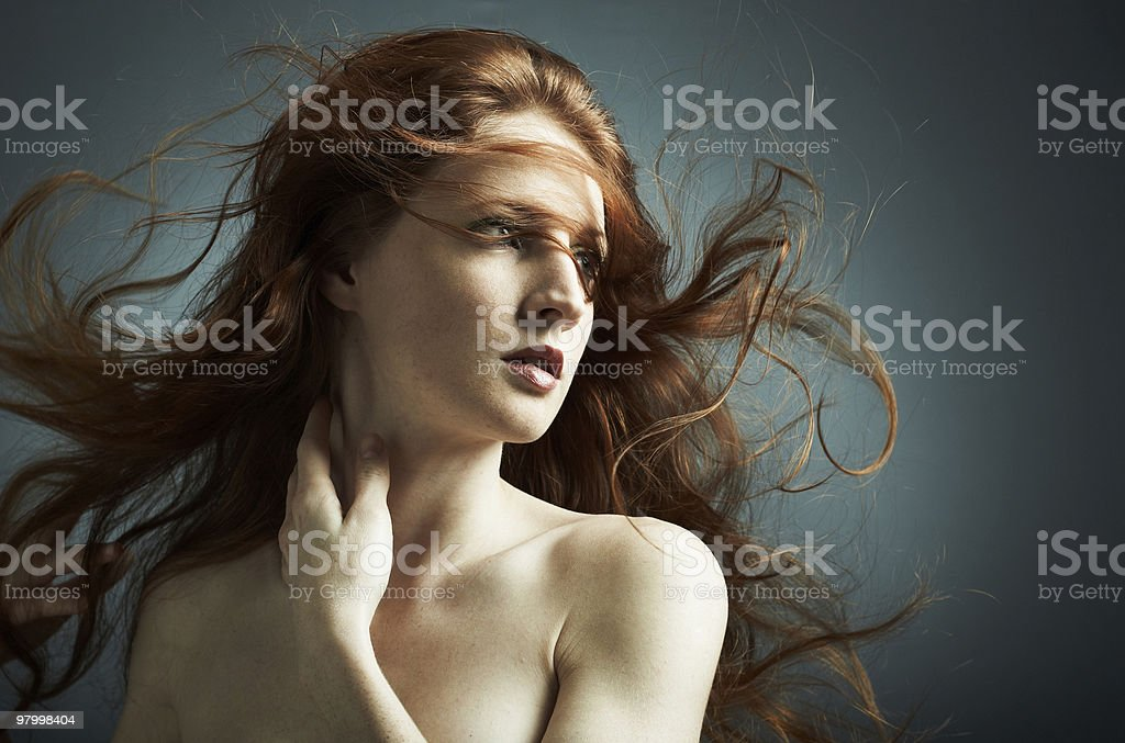 Portrait of the young sexy girl royalty free stockfoto