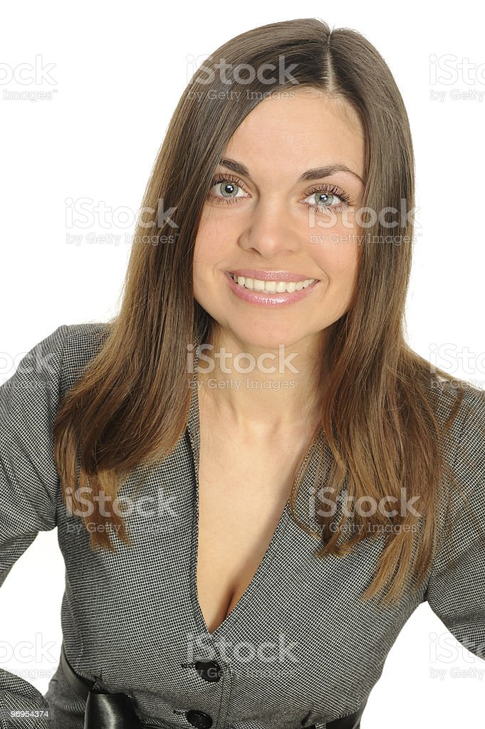 Portrait of the young woman royalty-free stock photo