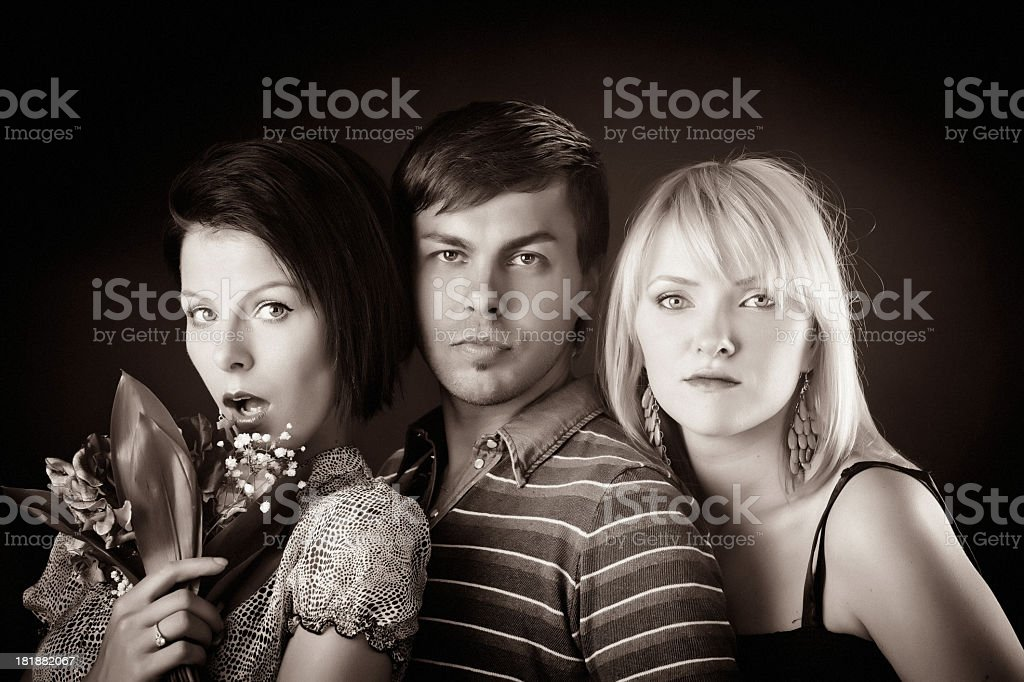 Portrait of three friends royalty-free stock photo