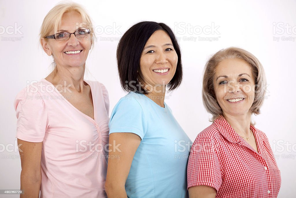 Portrait Of Three Mature Ladies Stock Photo Download Image Now Istock