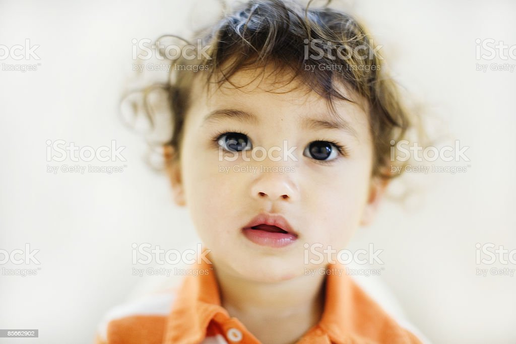 Portrait of toddler boy with brown eyes royalty-free stock photo