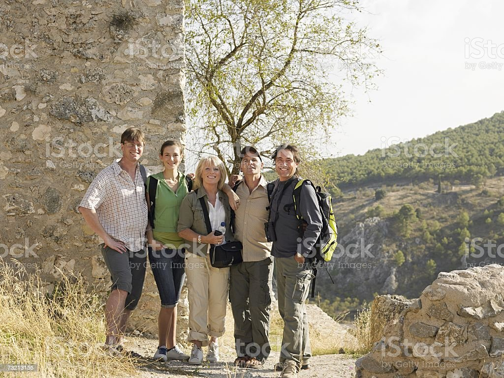 Portrait of tourists royalty-free stock photo