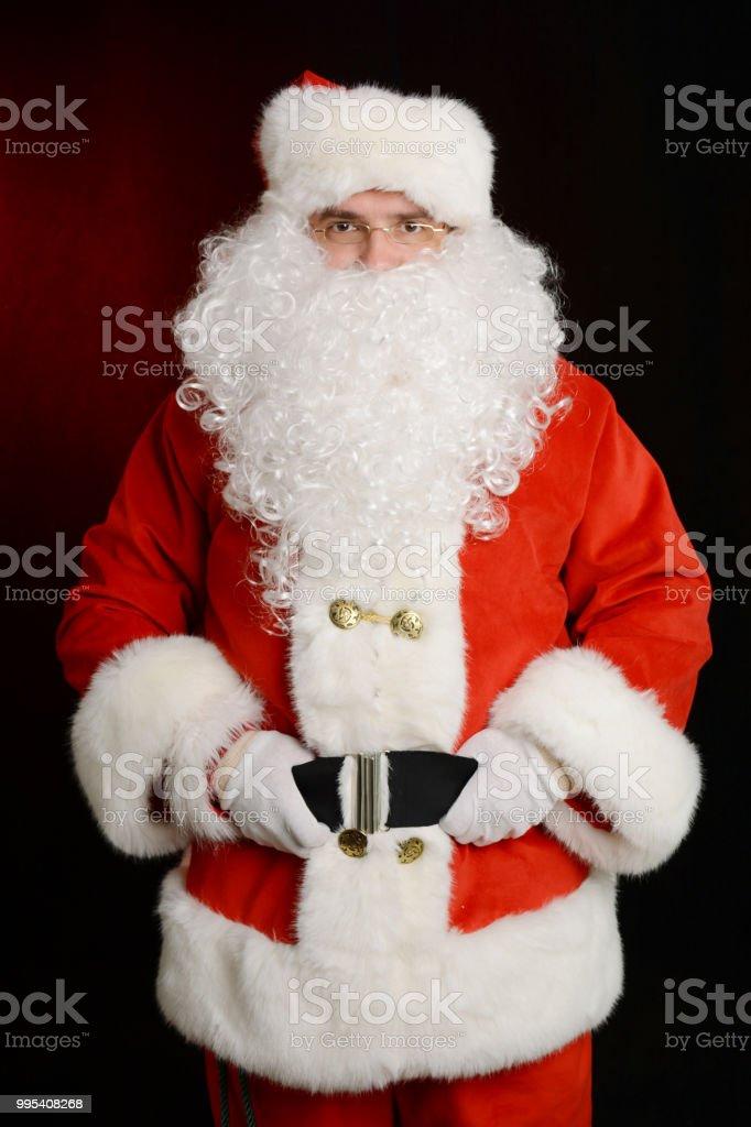 Portrait of traditional Santa Claus - Zbiór zdjęć royalty-free (Boże Narodzenie)