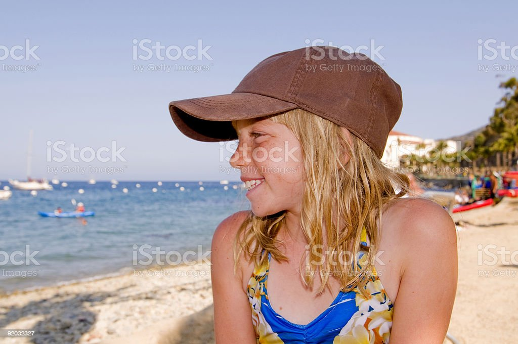 Portrait of Tween on Beach royalty-free stock photo