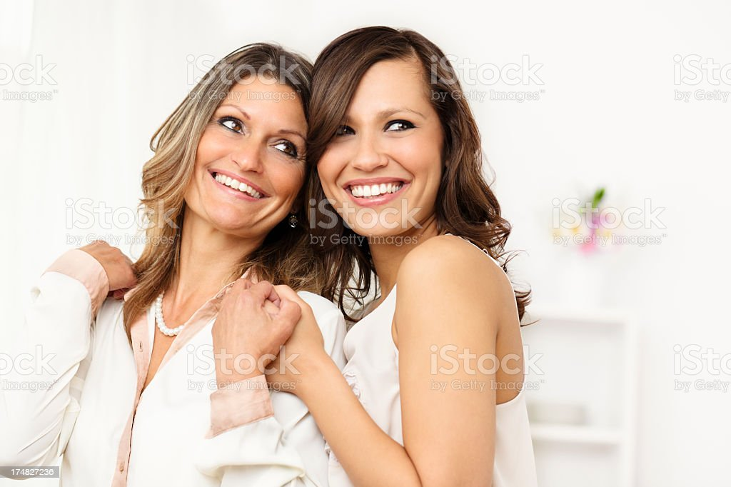 Portrait of two happy women royalty-free stock photo