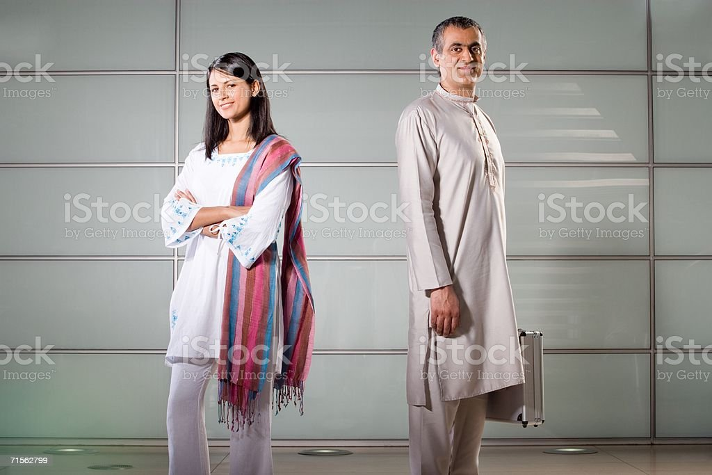 Portrait of two office workers royalty-free stock photo