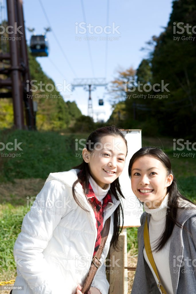 Portrait of two women royalty-free stock photo