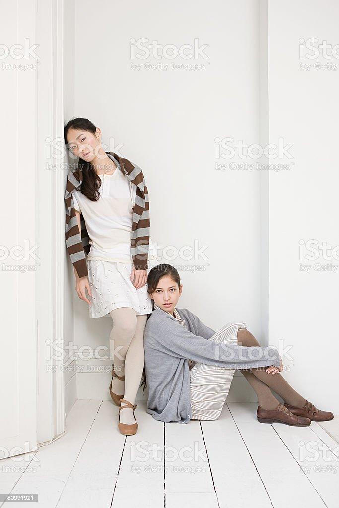 Portrait of two young women 免版稅 stock photo