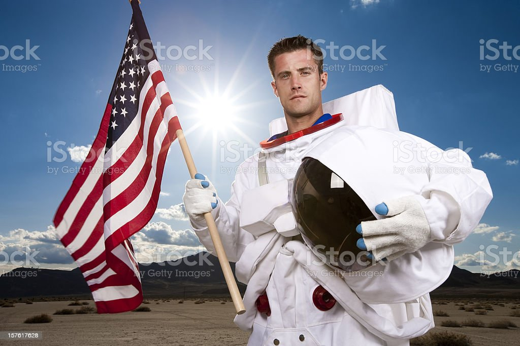 Portrait of US Astronaut stock photo