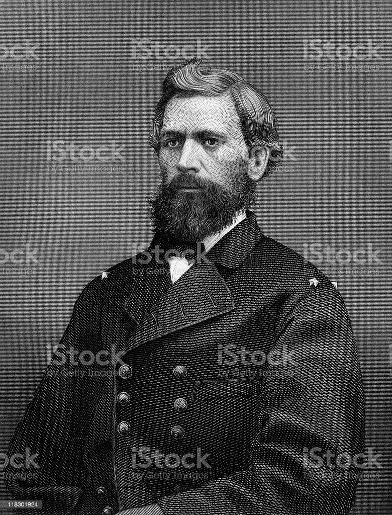 Portrait of U.S. General Oliver Otis Howard royalty-free stock photo