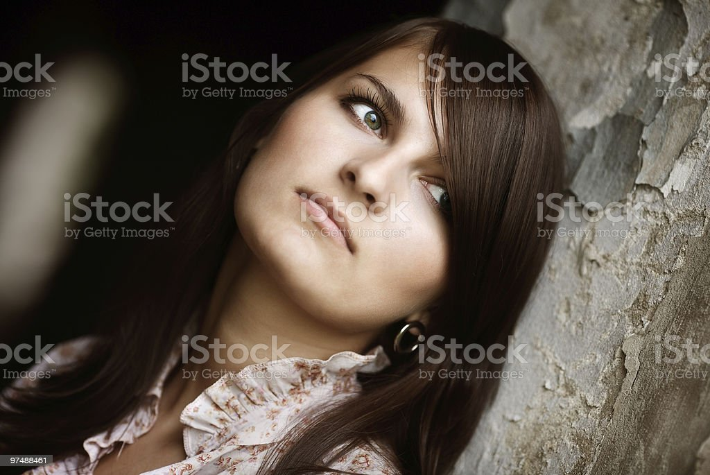Portrait of very beautiful girl royalty-free stock photo