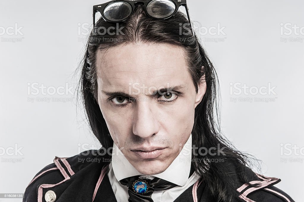 Portrait of Victorian Costume Character stock photo