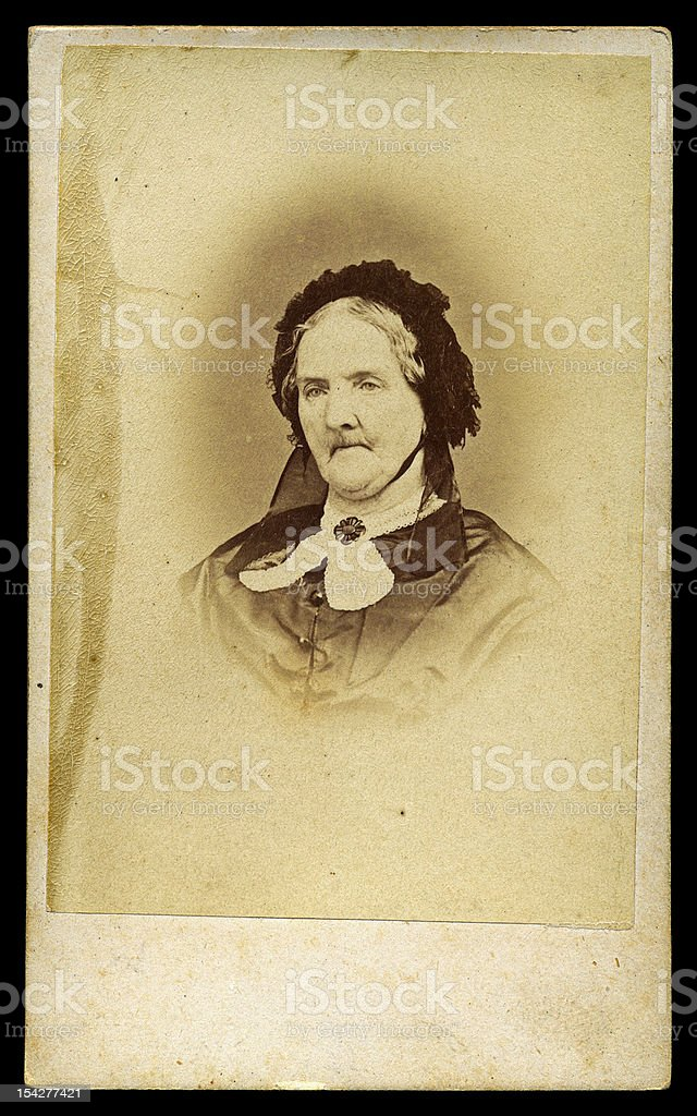 portrait of victorian old lady antique photo stock photo