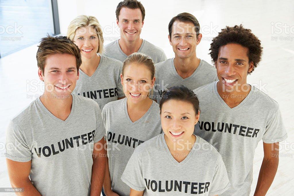 Portrait Of Volunteer Group royalty-free stock photo