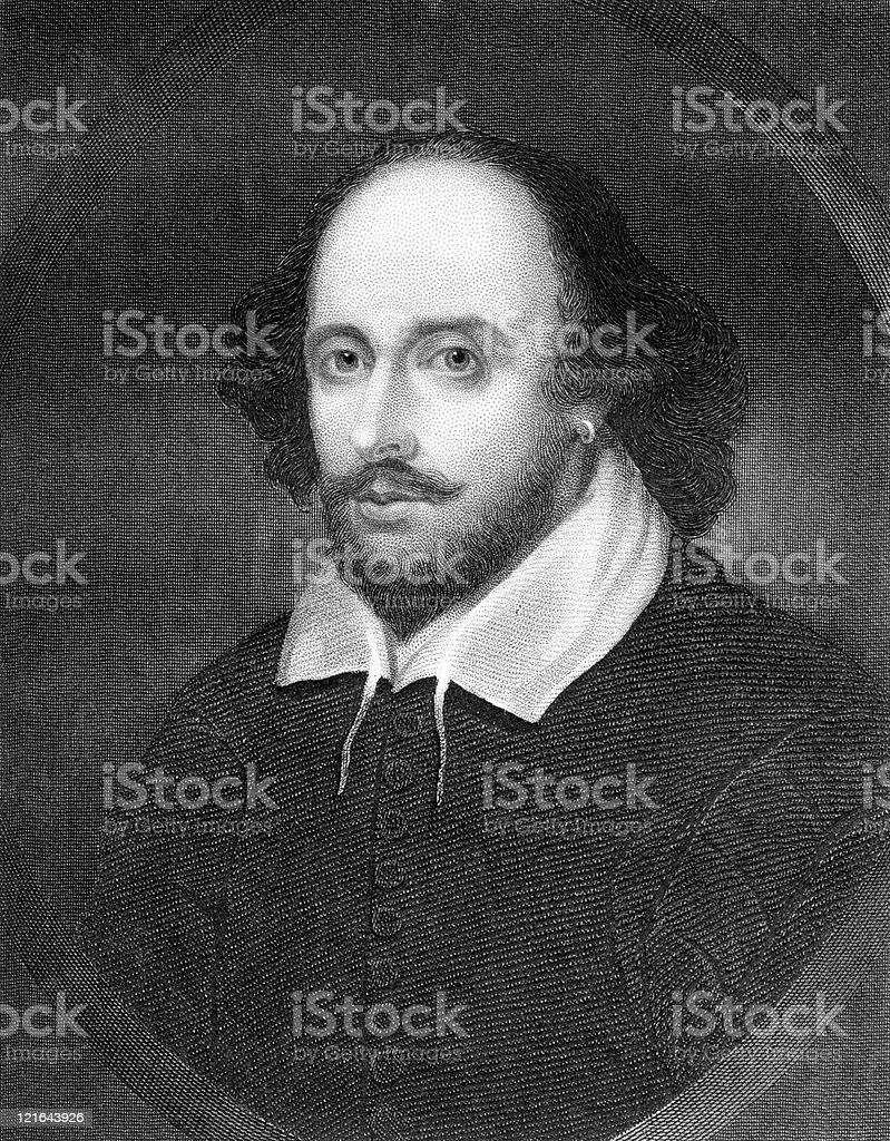 Portrait of William Shakespeare royalty-free stock photo