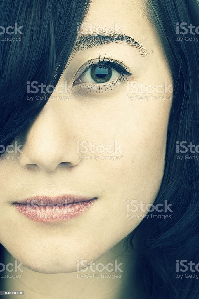 Portrait of Woman, Close-up royalty-free stock photo