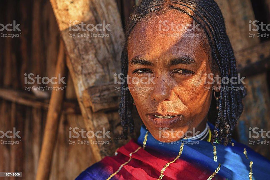 Portrait of woman from Borana, Ethiopia, Africa royalty-free stock photo