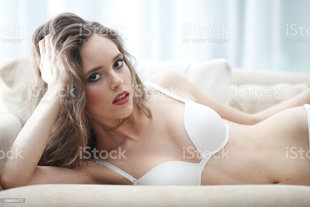 Portrait of woman in lingerie royalty-free stock photo