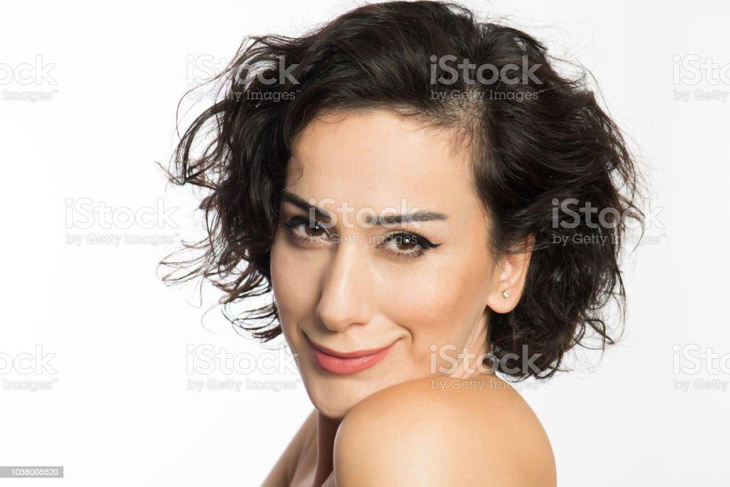 Kadın portresi stok fotoğrafı