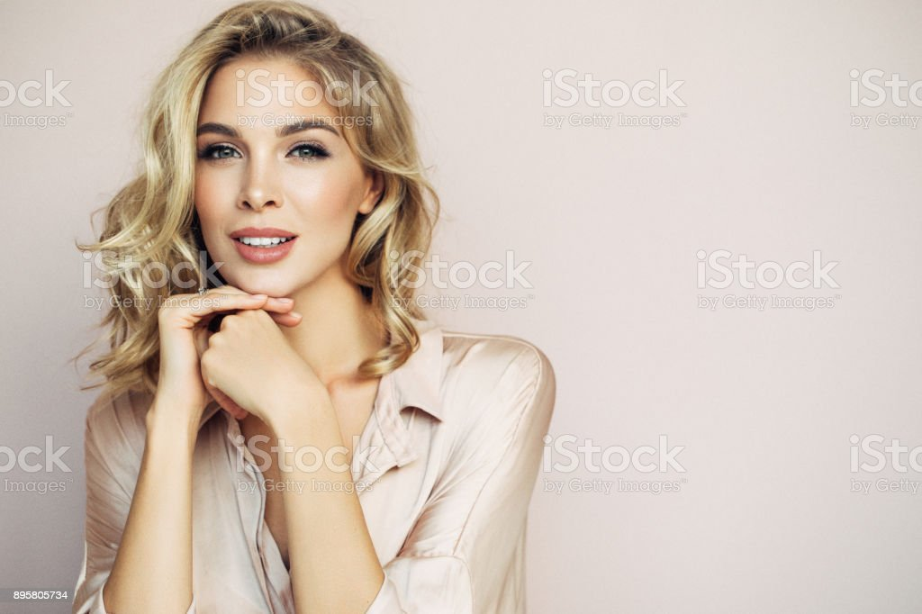 Portrait of woman stock photo