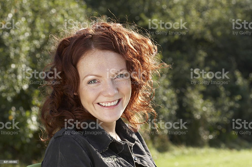 Portrait of woman smiling foto stock royalty-free