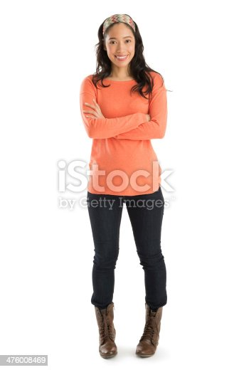 istock Portrait Of Woman Standing Arms Crossed 476008469
