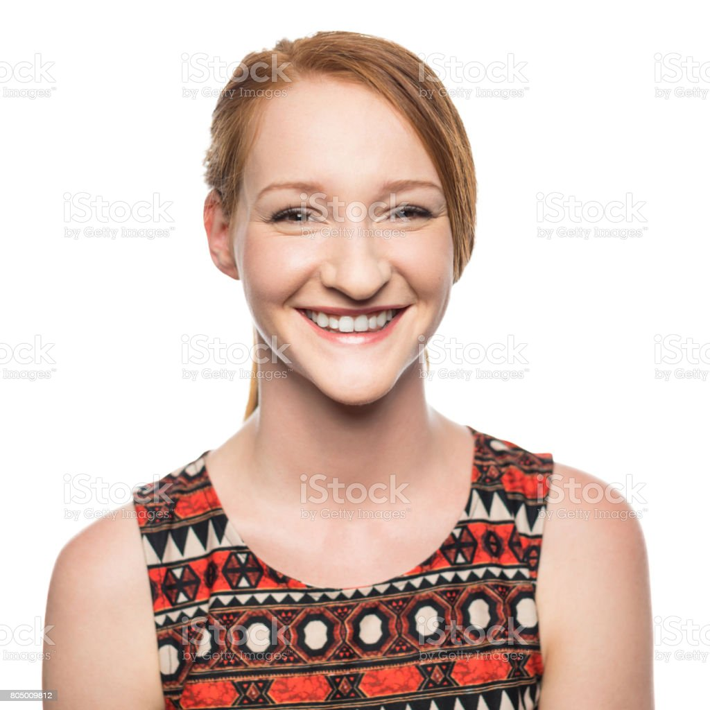 Portrait of woman with beautiful smile stock photo