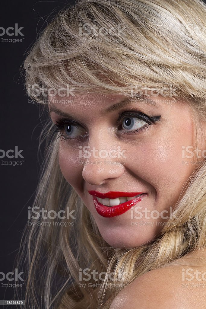 portrait of woman with make-up pin up royalty-free stock photo