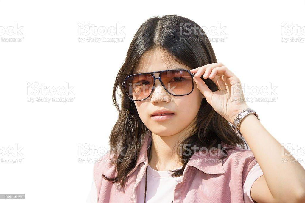 Portrait of women with sunglasses stock photo