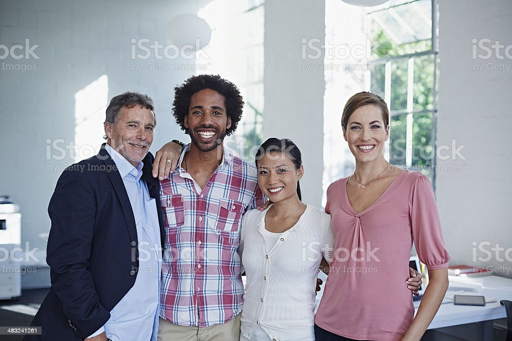 Portrait of work associates stock photo