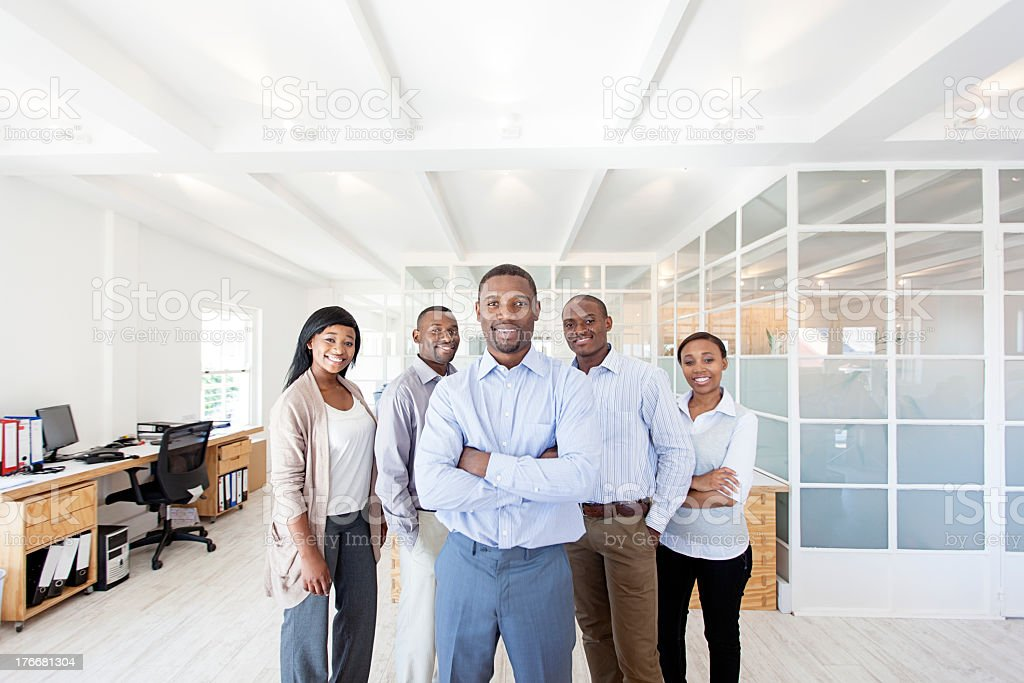 Portrait of Work Colleagues, Cape Town, South Africa royalty-free stock photo
